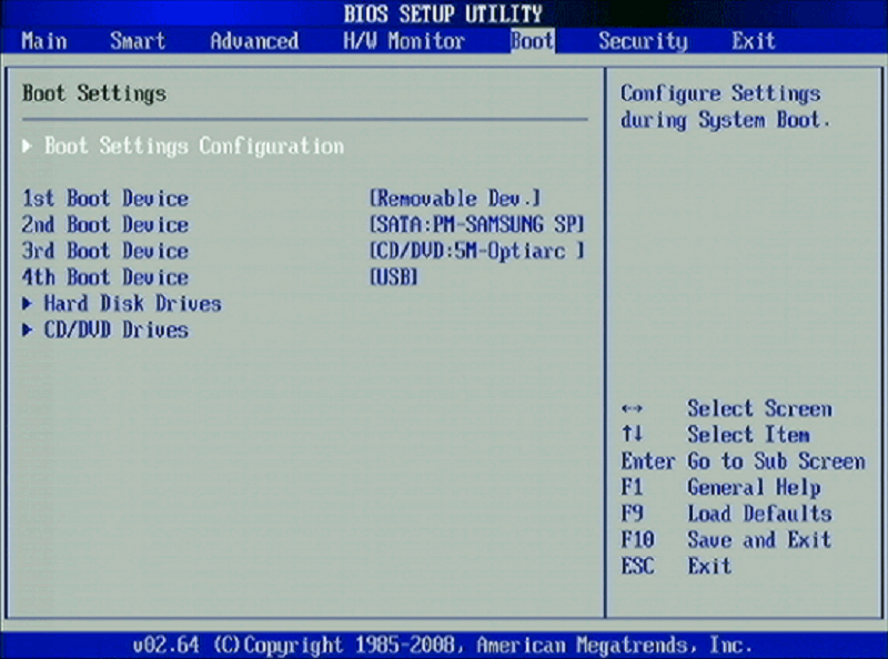 Operating system DVD and BIOS setting to format Windows 7