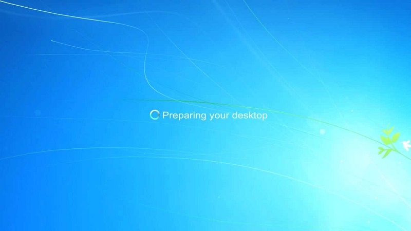 Preparing to start Windows 7