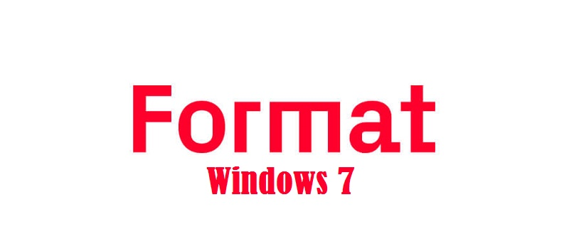 Format Windows 7