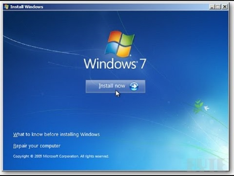 The steps to format Windows 7