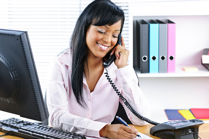 What should the role of the receptionist be?