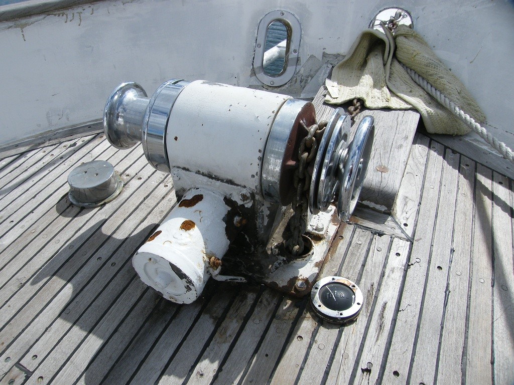 Types of equipment found on the deck of the ship